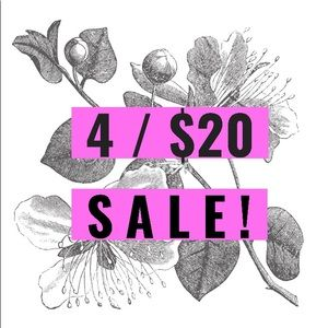 4 items for $20 sale!!!